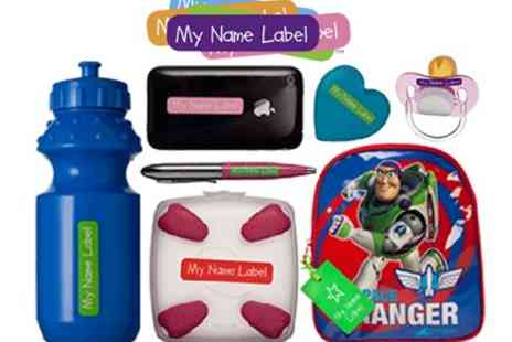 My Name Label - Personalised Sticker and Iron On Label Pack - Save 40%