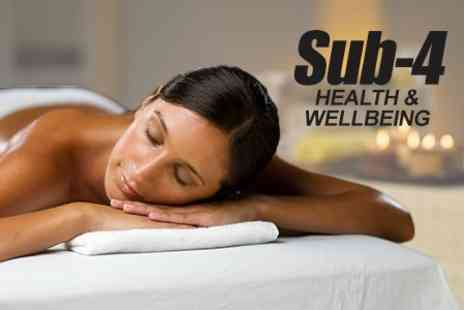 Sub 4 Health - One Hour Full Body Massage Using Blend of Aromatherapy Oils - Save 40%
