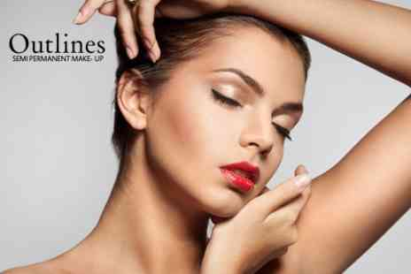 Outlines - Semi Permanent Make Up For Eyeliner, Eyebrows, Lip Liner or Lip Blush - Save 64%