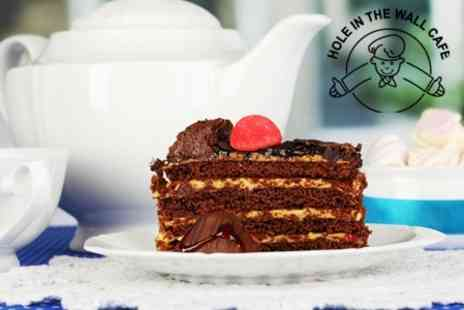 Hole in the Wall Cafe - Trio of Cakes Plus Coffee or Tea With Free Refills For Two - Save 50%