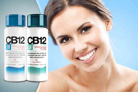World of Beauty - 250ml bottle of CB12 Safe Breath mouthwash in a choice - Save 40%