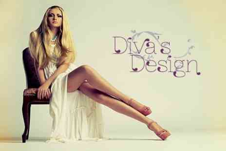 Divas Design - Full Head Colour or Half Head Highlights With Restyle, Conditioning and Blow Dry - Save 68%