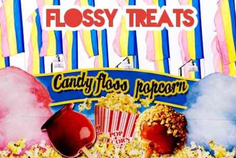 Flossy Treats - Popcorn or Candy Floss Machine Hire - Save 50%