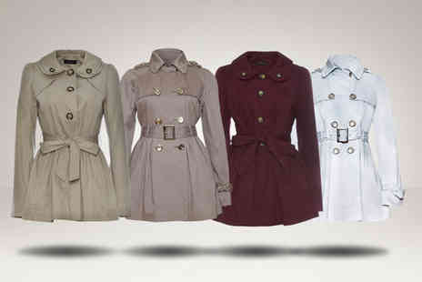 Evie Belle - Belted mac or trench coat in a choice of colours - Save 50%