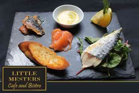Little Mesters Cafe and Bistro - Three Course Bistro Meal For Two  - Save 56%