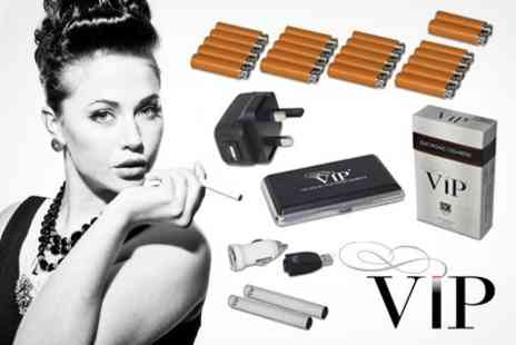 VIP - E Cigarette Starter Kit With Cartomizer Refills - Save 59%