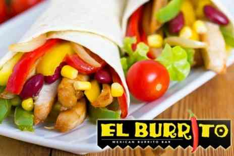 El Burrito - Fajitas or Burritos With Drinks For Two - Save 54%