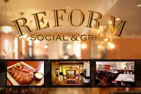 Reform Social and Grill - Lobster Burger or Steak with Garlic Snails or Hand Cut Chips, Plus Starters and Bottle of Wine For Two - Save 55%