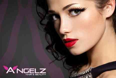 Angelz Hair and Beauty - Full Set of Hollywood Eyelash Extensions - Save 53%
