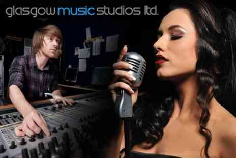 Glasgow Music Studios - Pop Star Recording Experience For Up to Five With CD - Save 61%