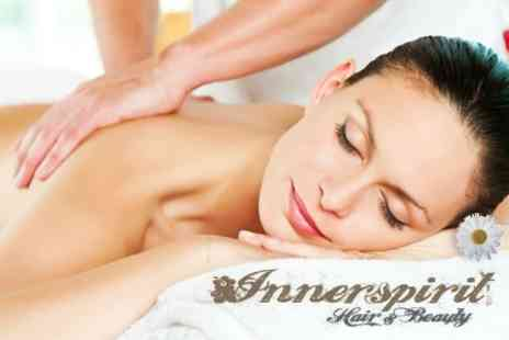 Innerspirit Hair and Beauty - Swedish Massage and Facial Plus Manicure and Pedicure - Save 78%