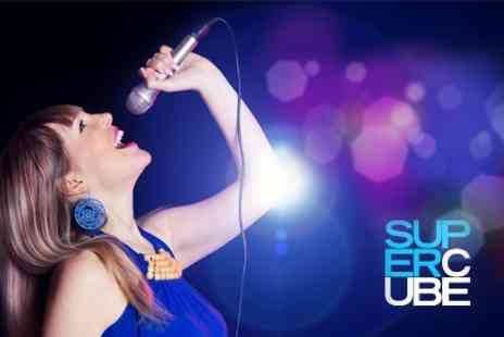 Supercube - Couples Karaoke Private Room With Prosecco and Pizza For Two People - Save 70%