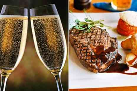 La Cachette - Steak Dinner for 2 with Bubbly in French Bistro - Save 53%