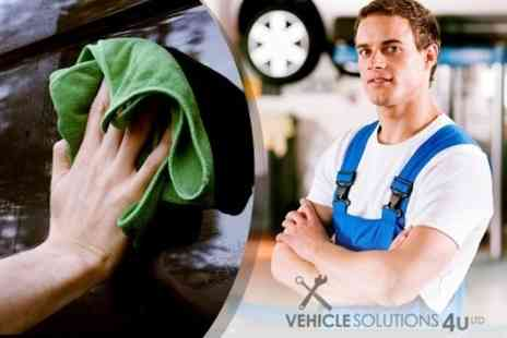 Vehicle Solutions 4U - Small Service With Oil and Filter Change Plus Wash and Vacuum - Save 68%