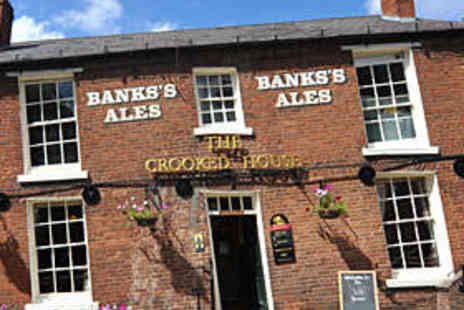 The Crooked House - Two Course Meal for Two with Bubbly - Save 66%