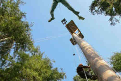 Tree Top Adventure - Powerfan Plummet and Sky Ride for Two - Save 50%