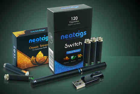 Neat Cigs - SWITCH electronic cigarette starter kit with 5 catomiser refills - Save 67%