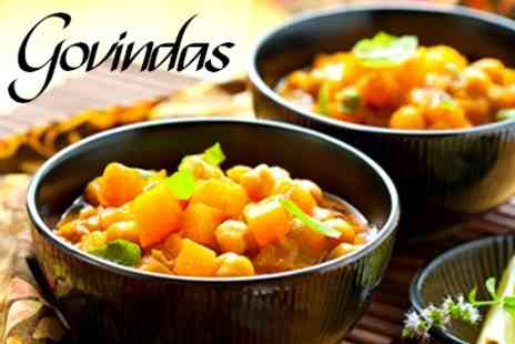 Govindas - Vegetarian Fare Indian Special and Dessert For Two - Save 50%