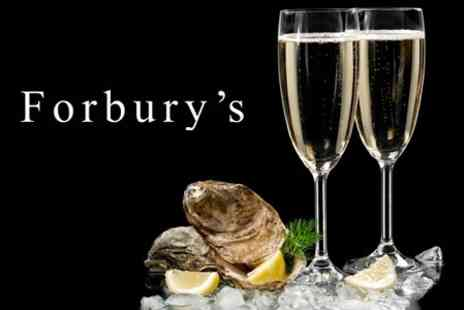 Forburys Restaurant - Oysters and Champagne For Two - Save 38%