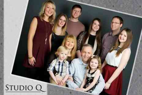 Studio Q Photography - Group Photoshoot For Up to Ten People With Five Prints - Save 25%