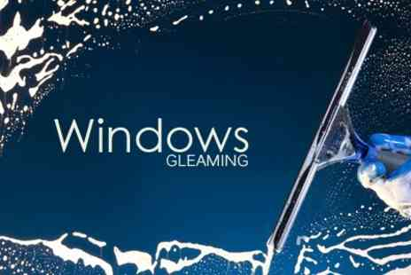 Windows Gleaming - Window and Door Cleaning Up to Ten Units - Save 50%