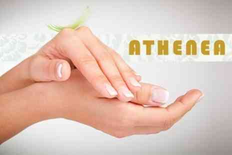 Athenea - Manicure and Pedicure, or Facial Plus Lash and Brow Tint and Brow Wax - Save 62%