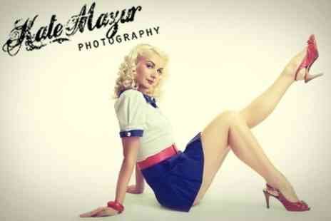 Kate Mazur Photography - Vintage Pin Up Style Photoshoot With Makeover and Mounted Print - Save 45%