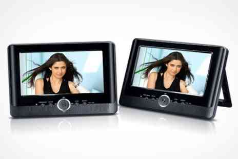 Uerotek - One Twin Screen In Car DVD Player Kit - Save 53%