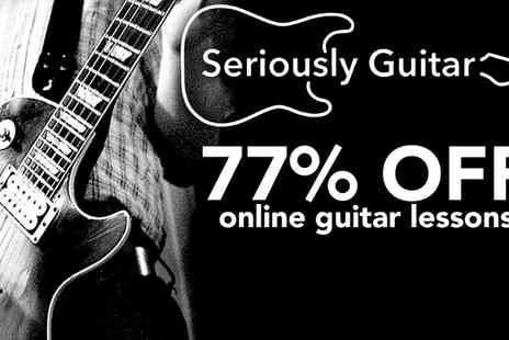Seriously Guitar - Seriously Guitar 100 hour online guitar course - Save 77%