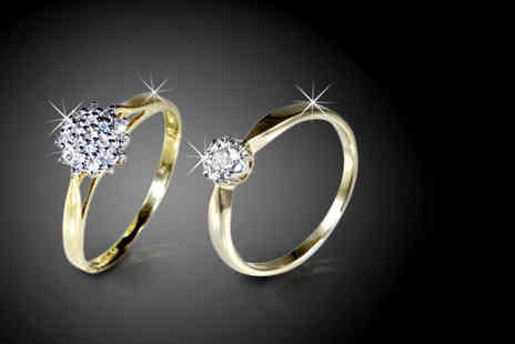 Oodlebee - 9 Carat gold cluster or solitaire diamond ring - Save 65%