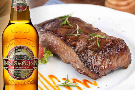 Turquoise Thistle Restaurant Bar - Rump Steak for 2 People plus a side & a bottle of Innis & Gunn beer each - Save 49%