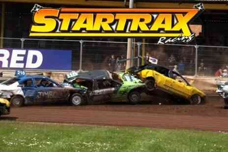 Startrax - Stock Car Racing Entry For Two Adults With Programmes and Drinks - Save 58%
