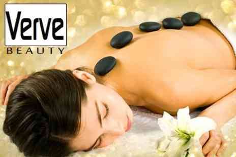 Verve Beauty - Hot Stone or Swedish Back Massage With Facial and Manicure - Save 64%