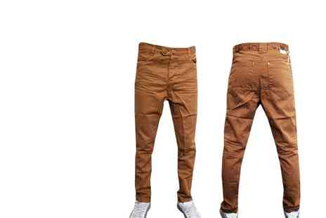 Gaffer Deals - Soul Star Drop Crotch Carrot Fit Cuffed Chinos - Save 56%