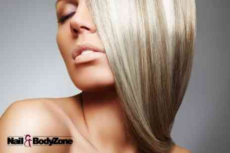 Nail and Bodyzone - Full Head Highlights or Colour With Cut and Blow Dry - Save 69%