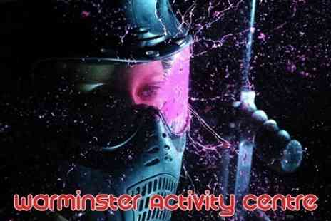 Warminster Activity Centre - Paintballing For Ten With 100 Paintballs Each and Pizza - Save 75%