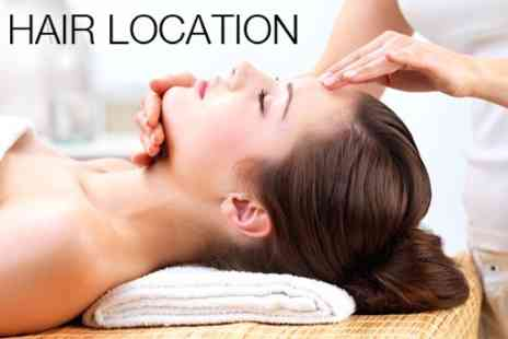 Hair Location - Microdermabrasion Plus 30 Minute Back, Neck and Shoulder Massage - Save 72%