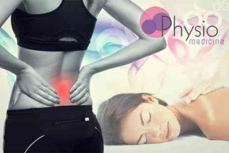 Physio Medicine - One Hour Massage With Spinal and Joint Assessment - Save 68%