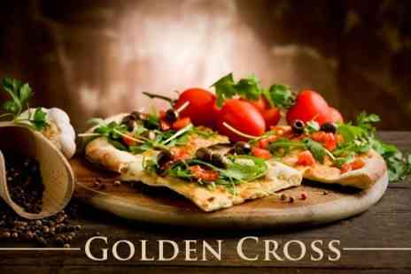 The Golden Cross - Two Course Pizza or Pasta Meal With Wine For Two - Save 52%