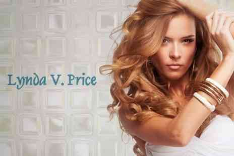 Lynda V. Price - Cut and Finish With Conditioning Treatment Plus T Section Highlights For Short Hair - Save 62%