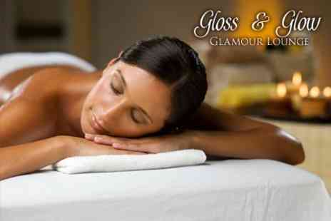 Gloss and Glow - Deep Tissue Aromatherapy Massage Plus Facial - Save 53%