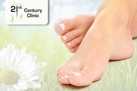 21st Century Clinic - Chiropody Treatment With Nail Care - Save 64%