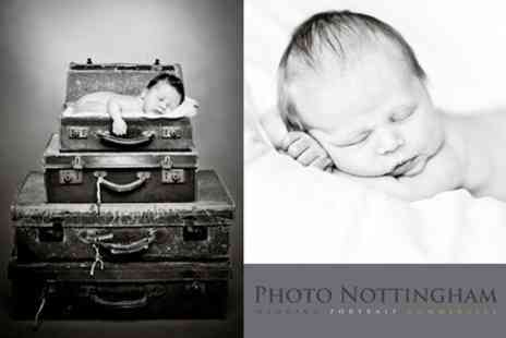 Photo Nottingham - New Born Baby Photoshoot With Two Prints and Digital Upload - Save 92%