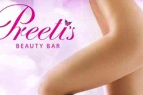 Preetis Beauty Bar - Brazilian or Hollywood Wax - Save 64%