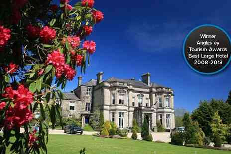 Tre ysgawen Hall - One night spa stay for two and Spa on the Isle of Anglesey - Save 60%
