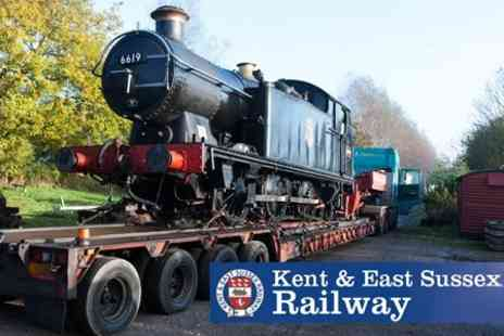 Kent and East Sussex Railway - Steam Train Day Ticket For Two People With Drinks - Save 58%