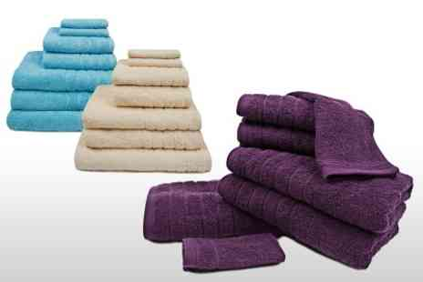 Textiles Direct - Egyptian Cotton Seven Piece Towel Bale in Choice of Colours - Save 58%