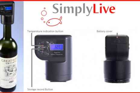 Simply Live - Calling all Wine Lovers!  Intelligent Wine Preserver - Save 60%