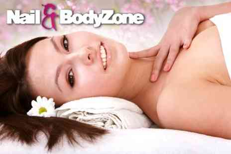 Nail and Bodyzone - One Hour Massage Plus Shellac Manicure and Luxury Pedicure - Save 73%