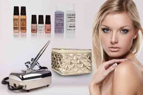 Home Shopping Mall - �Luminess Air' Airbrush Make Up Starter Kit With Gold Cosmetics Bag - Save 60%